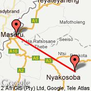 Maseru (Moshoeshoe Intl, MSU) - Sehonghong (SHK)