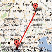 Munich (Franz Josef Strauss, MUC) - Genova (Cristoforo Colombo, GOA)