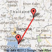 Nakhon Ratchasima (NAK) - Pattaya (PYX)