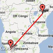 Nairobi (Jomo Kenyatta International, NBO) - Windhoek (Hosea Kutako International, WDH)