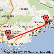 Nica (NCE) - Le Castellet (CTT)