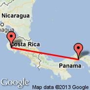 Nicoya (Guanacaste, NCT) - Panama City (Tocumen International, PTY)