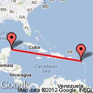 Nevis (Newcastle, NEV) - Cancun (Cancún International, CUN)