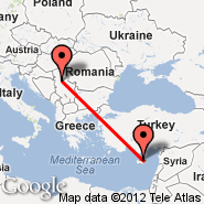 Nikozija (Nicosia International, NIC) - Beograd (Nikola Tesla, BEG)