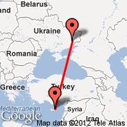 Nikozija (Nicosia International, NIC) - Donjeck (Donetsk International Airport, DOK)