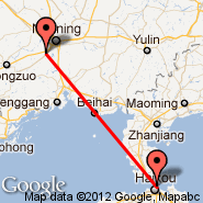 Nanning (Wuxu International Airport, NNG) - Haikou (Meilan International Airport, HAK)