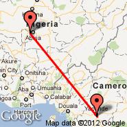 Yaounde (Nsimalen International, NSI) - Abuja (Nnamdi Azikiwe International Airport, ABV)