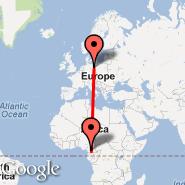 Yaounde (Nsimalen International, NSI) - Berlin (Berlin Metropolitan Area, BER)