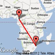 Yaounde (Nsimalen International, NSI) - Manzini (Matsapha Intl, MTS)