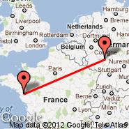 Nantes (Nantes Atlantique, NTE) - Frankfurt (Frankfurt International Airport, FRA)