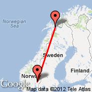 Narvik (Framnes, NVK) - Oslo (Oslo Airport, Gardermoen, OSL)