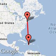 New York (Metropolitan Area, NYC) - Jacmel (JAK)