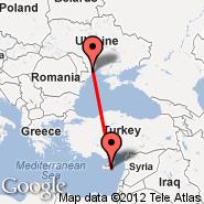 Odessa (Odessa International, ODS) - Larnaca (LCA)