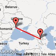 Odessa (Odessa International, ODS) - Tbilisi (Lochini, TBS)