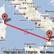 Olbia (Costa Smeralda, OLB) - Lamezia Terme (S Eufemia, SUF)