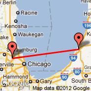 Chicago (O'Hare International Airport, ORD) - Benton Harbor (Ross Field, BEH)