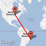 Chicago (O'Hare International Airport, ORD) - Rio de Janeiro (Metropolitan Area, RIO)