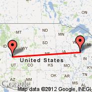 Chicago (O'Hare International Airport, ORD) - Salt Lake City (Salt Lake City International, SLC)