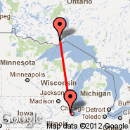 Chicago (O'Hare International Airport, ORD) - Thunder Bay (YQT)