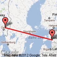 Oslo (Oslo Airport, Gardermoen, OSL) - Parnu (EPU)