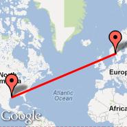 Oslo (Oslo Airport, Gardermoen, OSL) - Houston (William P Hobby, HOU)