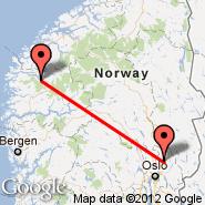 Oslo (Oslo Airport, Gardermoen, OSL) - Sandane (SDN)