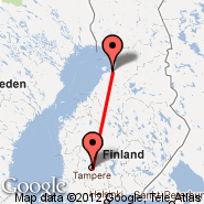 Oulu (OUL) - Tampere (Tampere-pirkkala, TMP)