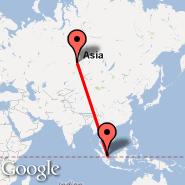 Novosibirsk (Tolmachevo, OVB) - Singapur (Changi, SIN)