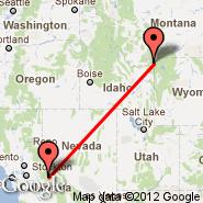 Yosemite Ntl Park (OYS) - West Yellowstone (Yellowstone, WYS)