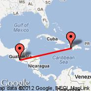 Port-au-Prince (Toussaint Louverture International, PAP) - Guatemala City (La Aurora, GUA)