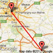 Pariz (Metropolitan Area, PAR) - Auxerre (Auxerre Branches, AUF)