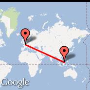 Pariz (Metropolitan Area, PAR) - Bandar Seri Begawan (Bandar Seri Begwan International Airport, BWN)