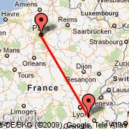Pariz (Metropolitan Area, PAR) - Grenoble (Grenoble-isere Airport, GNB)