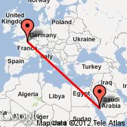 Pariz (Metropolitan Area, PAR) - Jeddah (King Abdulaziz International, JED)