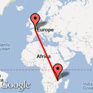 Pariz (Metropolitan Area, PAR) - Lilongwe (Kumuzu International Airport, LLW)