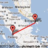 Padang (Minangkabau International Airport, PDG) - Batam (Hang Nadim, BTH)