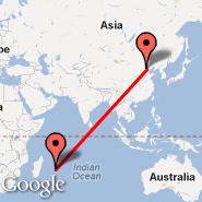 Peking (Beijing Capital Int., PEK) - Mauricijus (Sir Seewoosagur Ramgoolam Int, MRU)