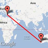 Perth (Perth International, PER) - Atena (Eleftherios Venizelos, ATH)