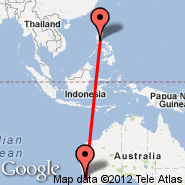 Perth (Perth International, PER) - Manila (Ninoy Aquino Intl, MNL)