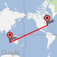 Perth (Perth International, PER) - New York (Metropolitan Area, NYC)