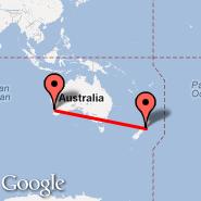 Perth (Perth International, PER) - Wellington (Wellington International, WLG)