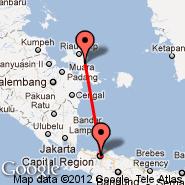 Pangkal Pinang (Pangkalpinang, PGK) - Jakarta (Soekarno-hatta Intl, JKT)