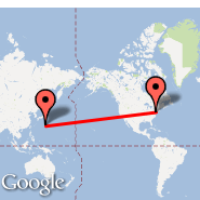 Philadelphia (Philadelphia International, PHL) - Iwo Jima (Iwo Jima Airbase, IWO)