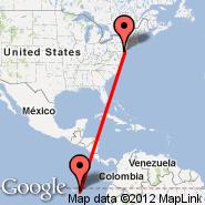 Philadelphia (Philadelphia International, PHL) - Puerto Baquerizo Moreno/San Cristobal Island (San Cristobal, SCY)