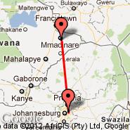 Selebi Phikwe (Selebi-Phikwe, PKW) - Johannesburg (Oliver Reginald Tambo International, JNB)