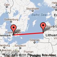 Palanga/Klaipeda (Palanga International, PLQ) - Kopenhagen (Kastrup, CPH)