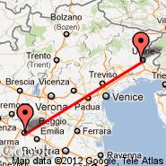 Parma (Giuseppe Verdi, PMF) - Udine (Airfield, UDN)