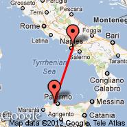 Palermo (Punta Raisi, PMO) - Napulj (Capodichino, NAP)