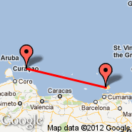 Porlamar (Del Caribe International, PMV) - Curacao (Hato International Airport, CUR)