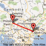 Phnom Penh (Phnom Penh International, PNH) - Ho Chi Minh City (Tan Son Nhat International, SGN)